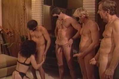 Four Guys Cumming On A Dirty Whore