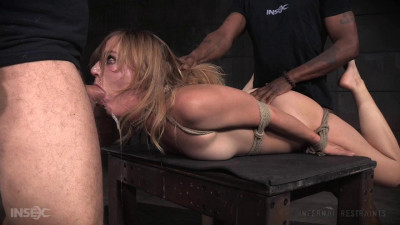 Mona Wales show continues rope bondage rough sex, messy drooling deepthroat! (2016)