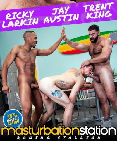 Raging Stallion - Masturbation Station - Ricky Larkin, Trent King & Jay Austin (720p)