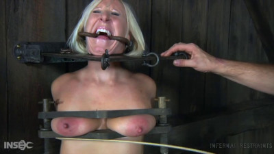 Tight bondage, spanking and torture for naked blonde part 1 Full HD 1080p