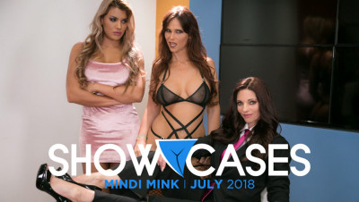 Syren De Mer, Mercedes Carrera – Showcases Mindi Mink – 2 Scenes in 1