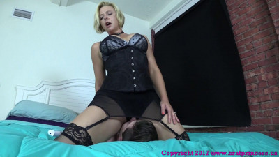 Brianna - woman Uses Sissy Sons Face To Get Off While