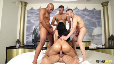 Bruna Butterfly  Brunas First Gangbang