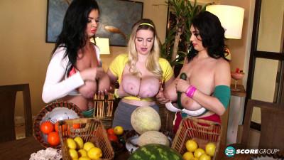 Alexya, Codi Vore & Sha Rizel Fun With Fruit