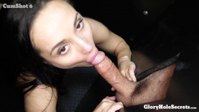 Crystal R's First Gloryhole Video