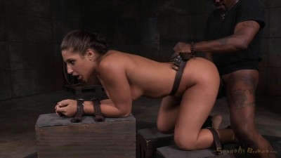 All Natural Stunner Abella Danger Bound Belts Doggy Style Roughly Taken From Both Ends (2015)