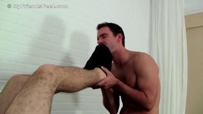 Spencer Gets His Socks & Feet Worshiped