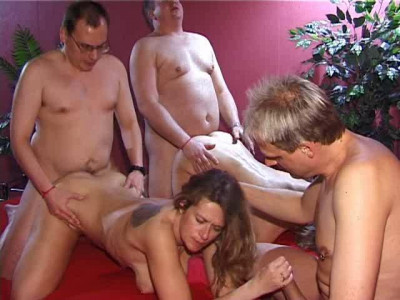 Gang bang party mit Marina Rene