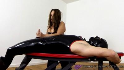 Busty Mistress jacks off slave with quality handjob
