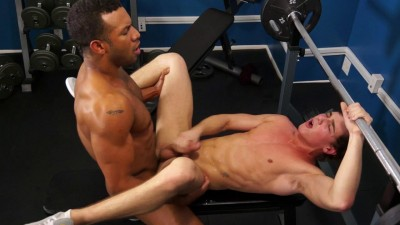 Description Jay Landford shows Justin Owen how to take his first black cock