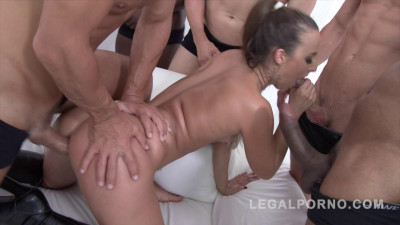 10 man Gangbang for Amirah Adara