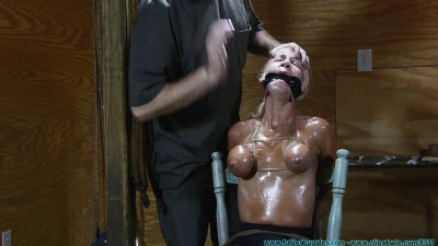 Thighs Spread Chair Tie for Amanda Fox 2 part – Extreme, Bondage, Caning