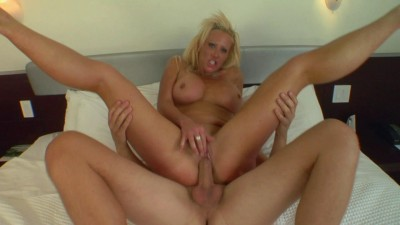 Alluring blondie fucks on camera