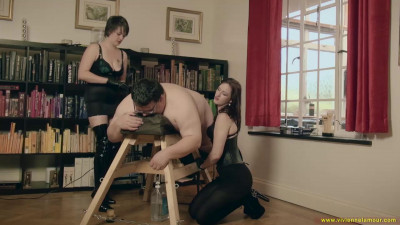 Governess Ely and Goddess Vivienne L'amour  The Milked Slave