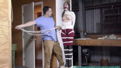 Rachel Crotchroped and Post Tied