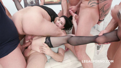 10on1 Triple Anal Gangbang with Anna de Ville