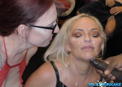 Louise Lee takes more cum in her face