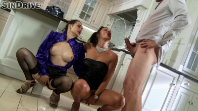 A Very Peesome Threesome! Lucky Fucker Takes On Two High Class Sluts! (2017)