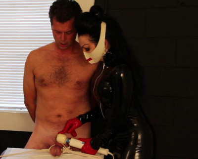 Tormented and the Latex Nurse (nurse, con, online, table)