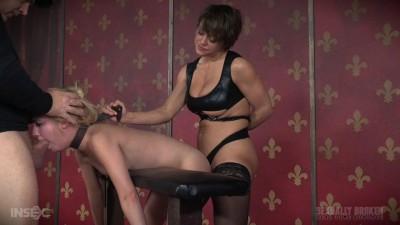 Part 2 of Odette Delacroix epic live show Double fucked Rough sex bondage! (2016)
