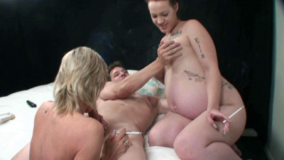 Smokers pregnant in threesome