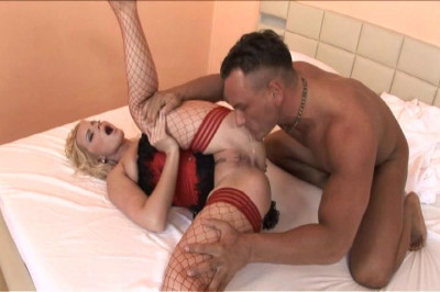 Slut In Stockings Rides For Ass Creampie