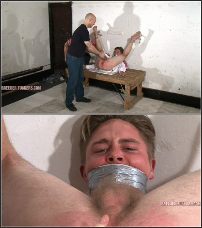 Joel - 2 - Bound and gagged spread eagle