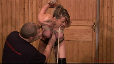 Another Breast Suspension for Tit Slave Eva