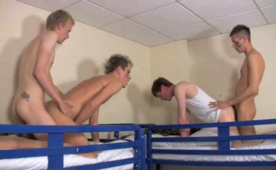 Young Cadets Like Raw Anal With Gangbang