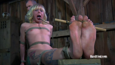 Bondage, spanking and torture for naked blonde part 2 Full HD 1080p