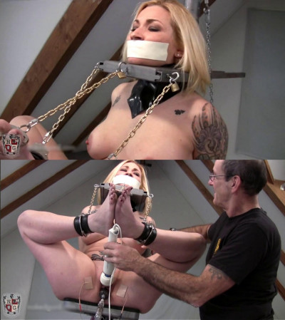 Super bondage, torment and torture for naked hot slut