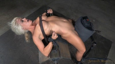Big breasted sybian slut Holly Heart bent over backwards brutal drooling deepthroat! (2015)