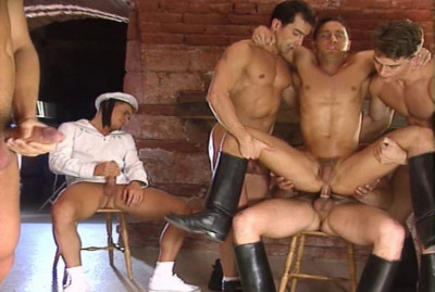 Amazing Gangbang With Russian Soldiers