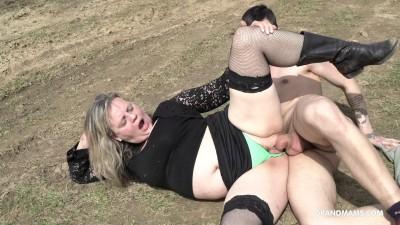 Lustful Grandma Enjoying A Young Guy