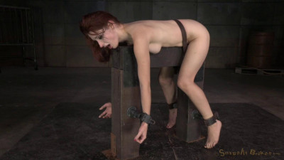 Redheaded Violet Monroe strictly shackled utterly destroyed hard cock! (2015)