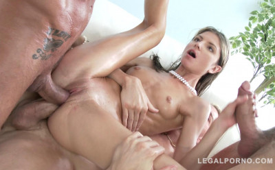 Small Gina Gerson Gets Oil Orgy & DP With Huge Dicks