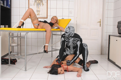 Kat And Alysa Bull Dicked By Skeletor Part 2