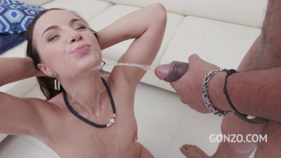 Kristy Black anal fucking and pee