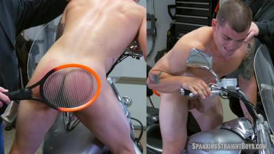 Spanking Straight Boys - Wes Motorcycle Spanking