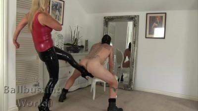 Nikki Whiplash - Ballbusting Chastity Release
