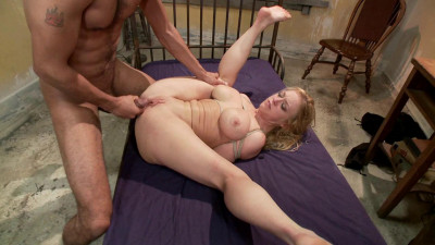 Blonde big tits, ass fucked in tight bondage