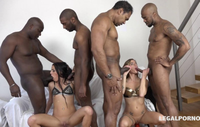 Teen Babes In Anal Gangbang With Big Black Cocks