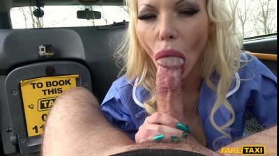 Busty naughty nurse dirty taxi ride