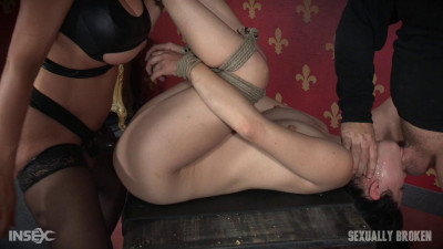 Sexy Hot Asian Yhivi, Rope Bound, Double Fucked And Deep Throated. Lesbian Rough Sex And Orgasms