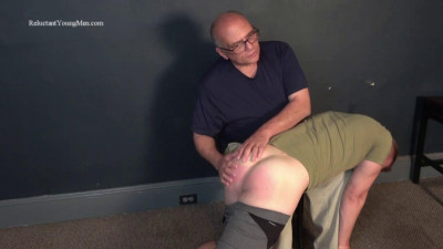 Sexy, 22 year old blond hunk Hunter went over my knee for a humbling spanking