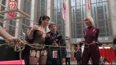 Public Bondage Walk at Venus Fair in Berlin - Scene 2 - HD 720p