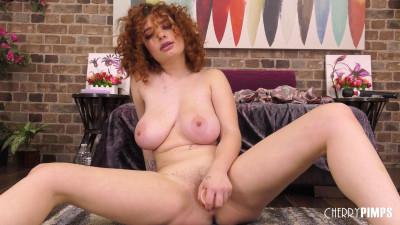 Curly Red Head Annabel Redd Masturbating