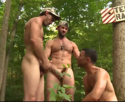 Raw anal for muscle hotties soldiers