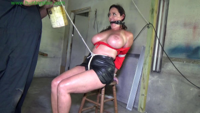 Christina Carter hogtied BDSM