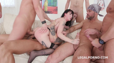 7on1 Anal Gangbang With DP For Charlotte Sartre